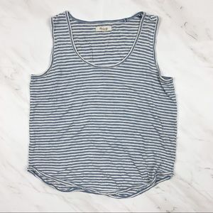Madewell Size Small Blue Striped Tank Top